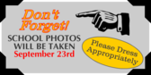 school pictures signs