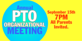 Annual PTO Organizational Meeting
