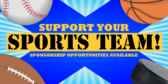 Support Sports Team Sponsor