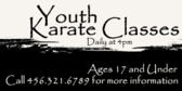 Youth Karate Classes Daily