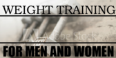 Men Women Weight Training