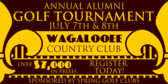 Alumni Golf Tournament Pinstripe Emblem