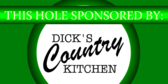 Golf Tournament Hole Sponsor Green and Circular