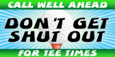 Make Your Tee Time Reservation