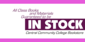 Class Books and Materials In Stock Redux