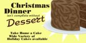 Chistmas Dinner Needs Dessert