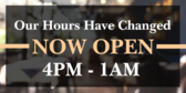 Store Hours Changed