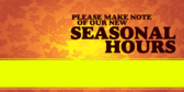 Make Note of Season Hours