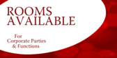 Corporate Party Rooms Available