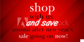 After New Years Shop With Us and Save