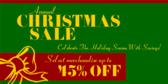 Christmas Sale Celebrate the Season With Savings