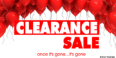 Clearance Sale Going Going Gone