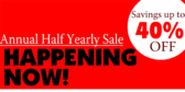 Semi Annual Annual Half Yearly Event Sale
