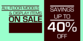 Floor Model Sale With Discount