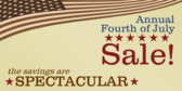 Fourth of July Sale Spectacular Savings