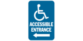 Accessible Entrance, Left