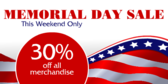 Memorial Day Sale This Weekend
