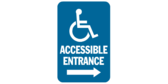 Accessible Entrance, Right