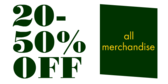 Percent Range Off on All Merchandise
