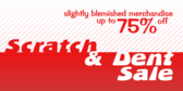 Scratch and Dent Sale Discounted Blemished Merchan