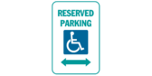 Handicapped Reserved Parking, Left/Right