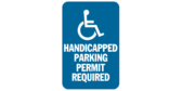 Handicapped Parking Permit Required