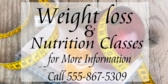 Weight Loss And Nutrition Class
