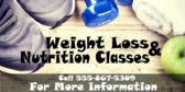 Weight Loss And Nutrition Classes