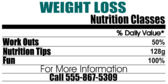 Weight Loss as Nutrition Label