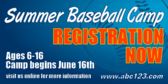 Summer Baseball Camp Registration