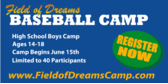 Field of Dreams Baseball Camp