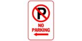 No Parking Left Arrow