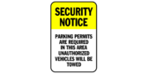 Security Notice, Parking Permit