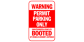 Warning, Permit Parking Only