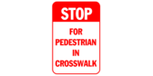 Stop for Pedestrian in Crosswalk