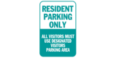 Resident Parking Visitors in Designated Areas