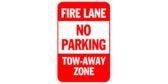 Fire Lane, No Parking, Tow Away Zone