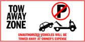 Illegally Parked Vehicles will be Towed
