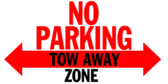 No Parking Tow Away Zone Red