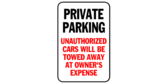 Private Parking, Unauthorized Cars Towed