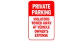 Private Parking, Violators Tow Away