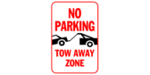 No Parking Tow Away Zone Clip Art