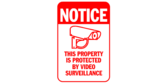 Property Protected By Video Surveillance Red Sign