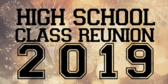High School Year Reunion Banners