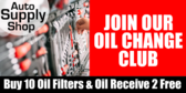 Auto Parts Store Oil Change Club