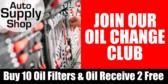Auto Parts Store Oil Change Club