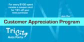 Auto Parts Customer Appreciation