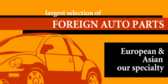 Foriegn Auto Parts Europe and Aisa Speciality