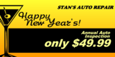 Happy New Year! Get Your Car Checked