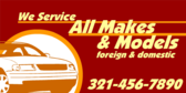 We Repair All Makes Foreign and Domestic